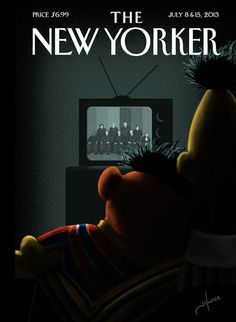 new yorker cover bert ernie gay marriage 580.jpg #sesame #and #print #cover #yorker #illustration #equality #bert #gay #street #ernie #new