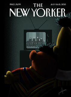 new yorker cover bert ernie gay marriage 580.jpg
