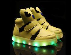 Children light-emitting cute shoes light green