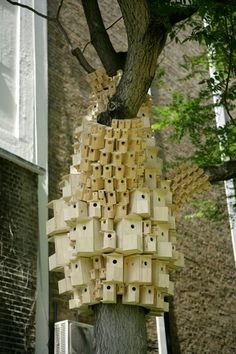 Spontaneous City in the Tree of Heaven by London Fieldworks | Yatzer™ #fieldworks #london #birds #birdhouse #architecture #art