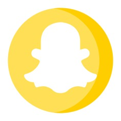 See more icon inspiration related to snapchat, brand, logo, social media, brands and logotypes, logos, logotype and social network on Flaticon.