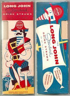 All sizes | 1956 Milko Long John LJS Pirate Drink Straws | Flickr - Photo Sharing!