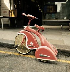 pink tricycle #retro #pink #vehicle #tricycle