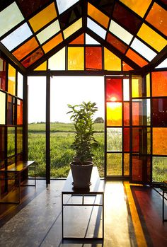 A Hilltop Solarium Made with Panels of Caramelized Sugar by William Lamson #color