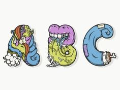 Dribbble - ABC's in color by Nathan Walker #colors #atpc #alphabet #letters