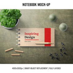 Notebook mock up template Free Psd. See more inspiration related to Mockup, Cover, Template, Web, Website, Pencil, Notebook, Pen, Mock up, Templates, Website template, Mockups, Up, Web template, Realistic, Real, Web templates, Mock ups, Mock and Ups on Freepik.