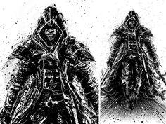 I'm back-Assassin's Creed Unity #white #black #assassins #art #and #creed #unity