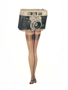 Dan Bina, Upskirt #art #vintage #camera #collage #legs #dan bina #upskirt