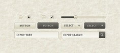 """""""sepia"""" gui elements Free Psd. See more inspiration related to Button, Radio, Elements, Ui, Form, Grey, Slider, Interface, Horizontal, Gui and Sepia on Freepik."""