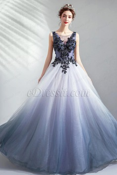 eDressit New V-Cut Embroidery Lace Tulle Women Party Dress (36224308)