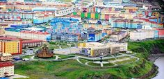 Anadyr with bright and colorful architecture