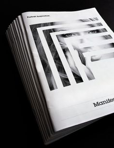 Manifesto. on the Behance Network #cover #posterl #branding #magazin