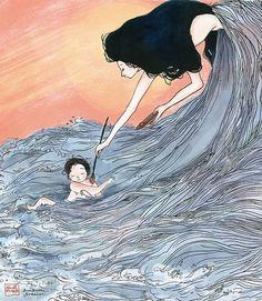 Jillian Tamaki Sketchblog » Blog Archive » RESULTS! #sunburn #illustration #summer