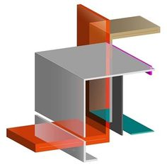 Interlock 6 #illusion #design #color #geometric #interlock #illustration #transparent #architecture #keaton #poster