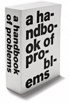 Rasmus Koch Studio : A Handbook of Problems #book #typography