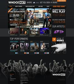 NXTM on the Behance Network #nxt #interactive #site #website #whooz #music #dark
