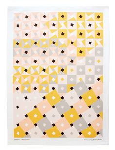 Dixon Tea Towel #abstract #pattern #towel #pink #yellow #tea #gray