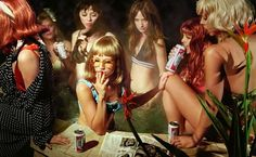 MoMA | New Photography 2010 | Alex Prager | Susie and Friends #beer #prager #alex #women #pool #photography #smoking