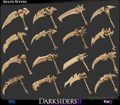 The Character Art of Darksiders II (new images pg 5, 6, 7) #scythe #darksiders #reaper