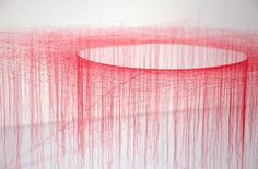 The Silk Vortices of Akiko Ikeuchi | Colossal #akiko #sculpture #ikeuchi #installation #string #art #silk