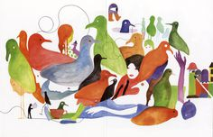 Mike Andrews / Hand On String with Geoff McFetridge Artwork The Fox Is Black #illustration