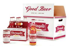 Rheingold Beer #packaging #beer