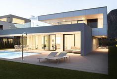 House With a Generous Glass Facade