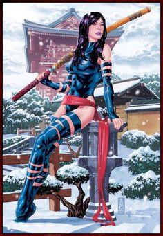 Psylocke character in Brooks comics book