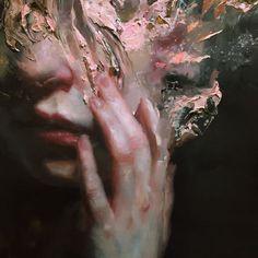 Work in progress - Henrik Aarrestad Uldalen #painting #hand #face