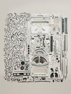 things come apart typewriter pieces apart neatly organized #organized #pieces #typewriter #clean