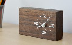 Woodtime: Simple, Modern & Minimal Bare Wood Clocks #wood #gadget #clock
