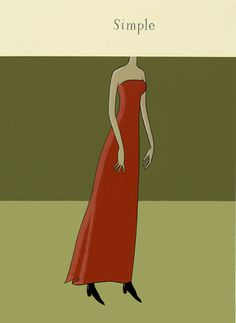 Simple, Nick Dewar, unique art #woman #girl #design #simple #illustration #art #dress #beauty