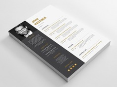 John Hastings Resume - Free Elegant Word Resume Template with Cover Letter Design