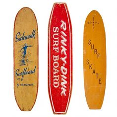 1STDIBS.COM - Surfing Cowboys - Collection of 3 1960s Skateboards ($200-500) - Svpply #skate #60s #surf