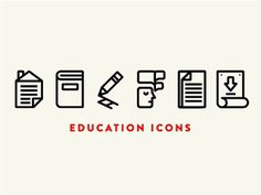 Iconset #education #icons #outlines