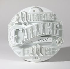 3D Type Sculptures + Animation on Behance #animation #lettering #print #type #3d #typography