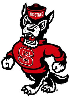 North Carolina State Wolfpack Alternate Logo (2006) Walking wolf with logo on sweatshirt #wolfpack
