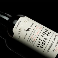 Left Field Cider Co. #bottle #packaging #design #graphic #typography