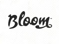 Dribbble - Bloom by Simon Walker #typography #script