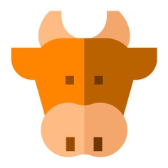 See more icon inspiration related to cow, milk, face, animal, farm, animal kingdom, mammal, farming and animals on Flaticon.