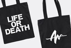 Life Or Death by DIA #print #graphic design #bag
