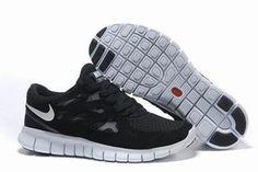 Nike Free Run 2 Running Shoe Black White Mens