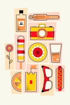 Hey Neil | Summertime - Neiljrook.com #objects #rook #neil #j #illustration #items