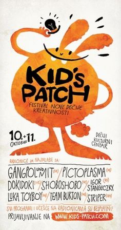 Kids-patch on the Behance Network #illustration #orange #watercolor