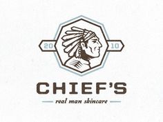 Dribbble - Chief's Skincare logo by Tim Boelaars #logo #indian #identity