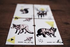 Quartet / Puzzle on Behance #design #graphic #puzzle #illustration #art #animals #game