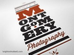Dribbble - Photographer's Logo by Leighton Hubbell #logo #photography #typography