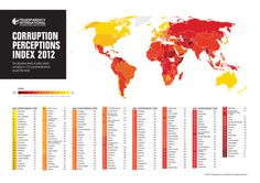 A GOOD.is Transparency - Perceived Corruption #infographic