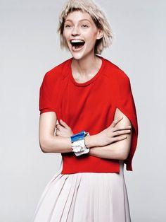 Sasha Pivovarova by David Sims for Vogue US #fashion #model #photography #girl