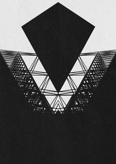 Geometric versions #geometry #design #blaqk #posters #symmetry #greece #patterns #simek #athens